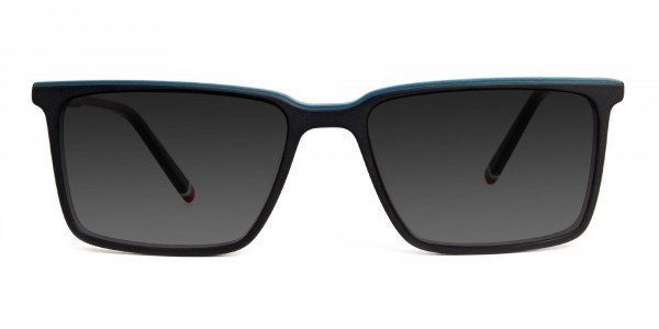 black-and-teal-rectangular-full-rim-grey-tinted-sunglasses-frames-1
