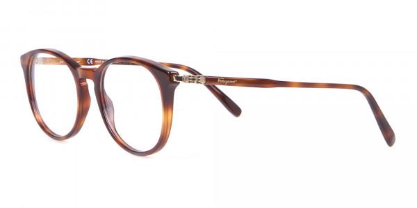 Salvatore Ferragamo SF2123 Retro Round Glasses Tortoise-3