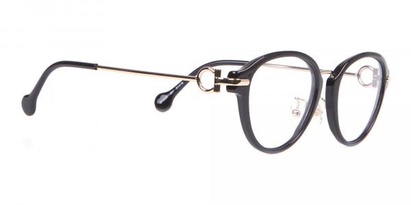Salvatore Ferragamo SF2826 Women's Round Glasses Black-2