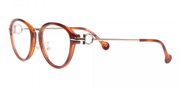 Salvatore Ferragamo SF2826 Women Round Glasses in Tortoise-3