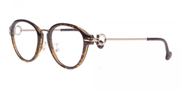Salvatore Ferragamo SF2826 Women Round Glasses Tortoiseshell-3