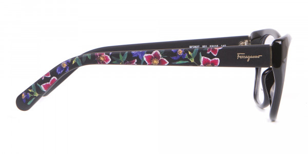 Salvatore Ferragamo SF2827 Cateye Wayfarer Glasses Black-4