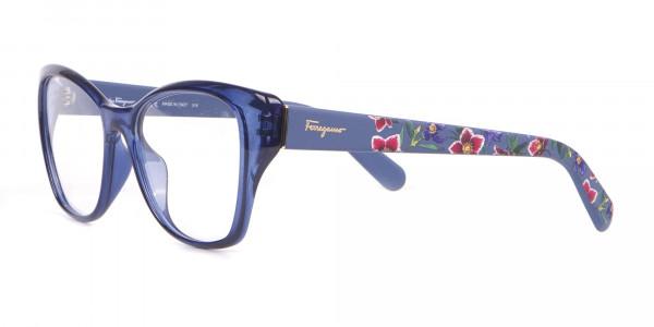 Salvatore Ferragamo SF2827 Cateye Wayfarer Glasses Blue-3