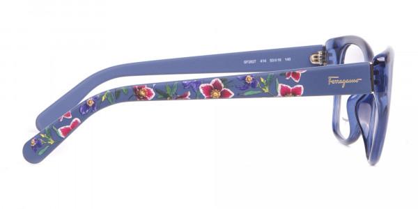 Salvatore Ferragamo SF2827 Cateye Wayfarer Glasses Blue-4
