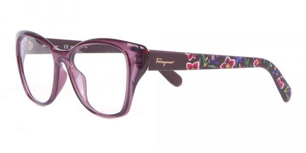 Salvatore Ferragamo SF2827 Cateye Wayfarer Glasses Purple-3