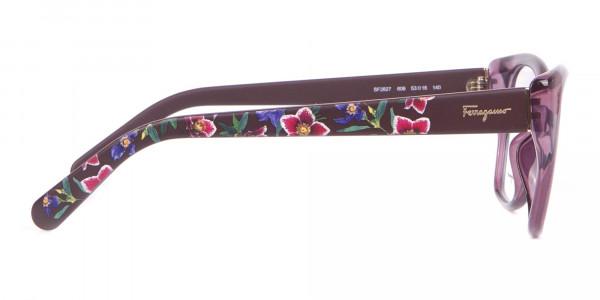 Salvatore Ferragamo SF2827 Cateye Wayfarer Glasses Purple-4