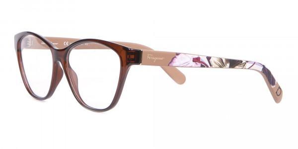 Salvatore Ferragamo SF2836 Women's Cat Eye Glasses Brown-3