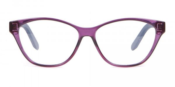 Salvatore Ferragamo SF2836 Women's Cat Eye Glasses Purple-1