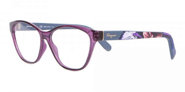 Salvatore Ferragamo SF2836 Women's Cat Eye Glasses Purple-3