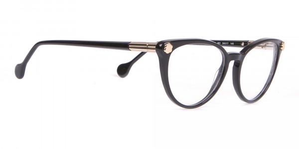 Salvatore Ferragamo SF2837 Women's Cateye Glasses Black-2