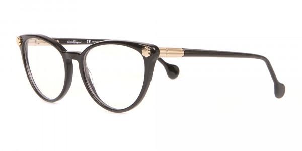 Salvatore Ferragamo SF2837 Women's Cateye Glasses Black-3