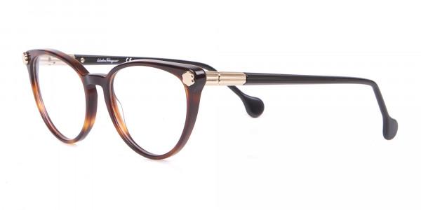 Salvatore Ferragamo SF2837 Women's Cateye Glasses Tortoise-3