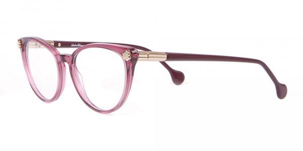 Salvatore Ferragamo SF2837 Women's Cateye Glasses Wine-3