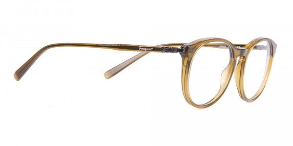 Salvatore Ferragamo SF2123 Retro Round Glasses Khaki-2
