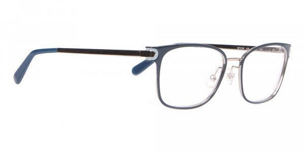 Salvatore Ferragamo SF2159  Metal Rectangular Frame Navy-2