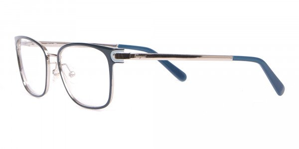 Salvatore Ferragamo SF2159  Metal Rectangular Frame Navy-3