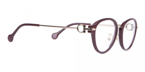 Salvatore Ferragamo SF2826 Women Round Glasses Burgundy-2