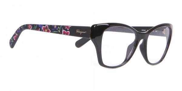 Salvatore Ferragamo SF2827 Cateye Wayfarer Glasses Black-2