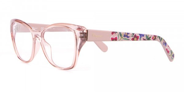 Salvatore Ferragamo SF2827 Cateye Wayfarer Glasses Nude-3