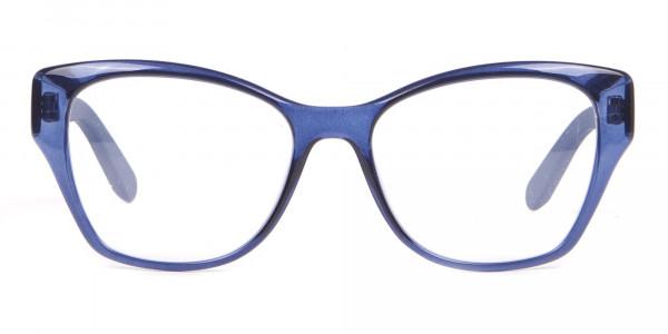 Salvatore Ferragamo SF2827 Cateye Wayfarer Glasses Blue-1