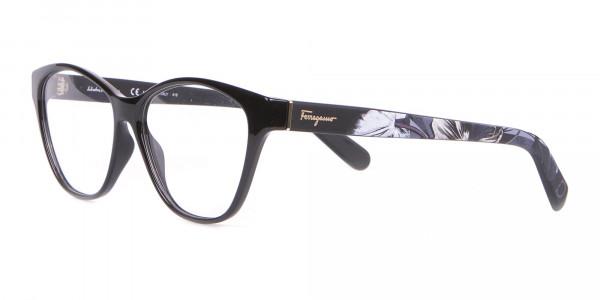 Salvatore Ferragamo SF2836 Women's Cat Eye Glasses Black-3