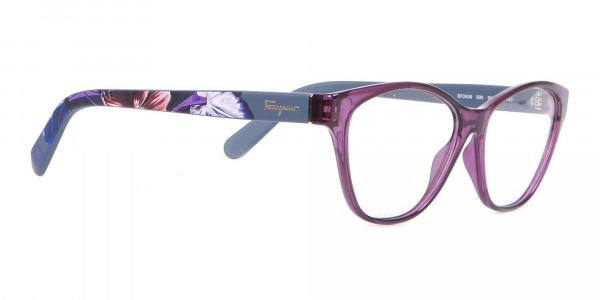 Salvatore Ferragamo SF2836 Women's Cat Eye Glasses Purple-2