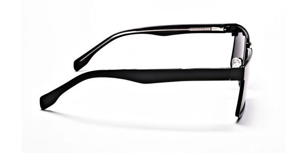 Black Wayfarer Sunglasses for Men and Women - 3