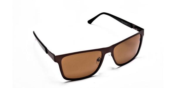 Brown Wayfarer Sunglasses for Men and Women - 1