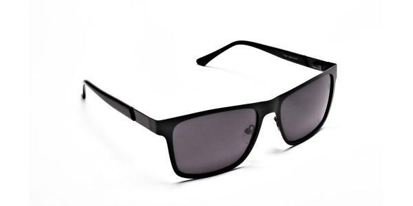 Designer Black Wayfarer Sunglasses - 1