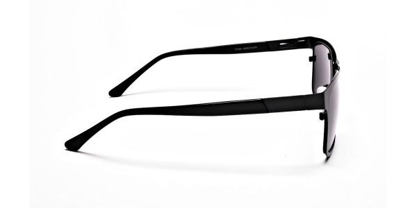 Designer Black Wayfarer Sunglasses - 3