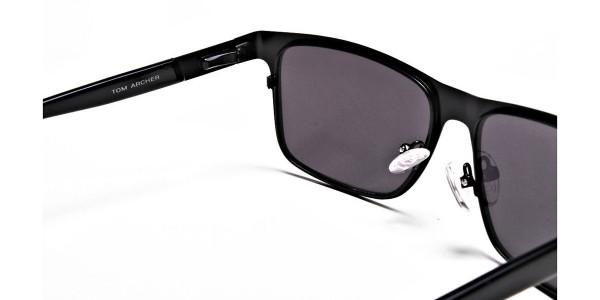 Designer Black Wayfarer Sunglasses - 4