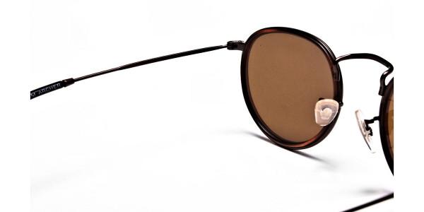 Fashion Brown Round Sunglasses - 4