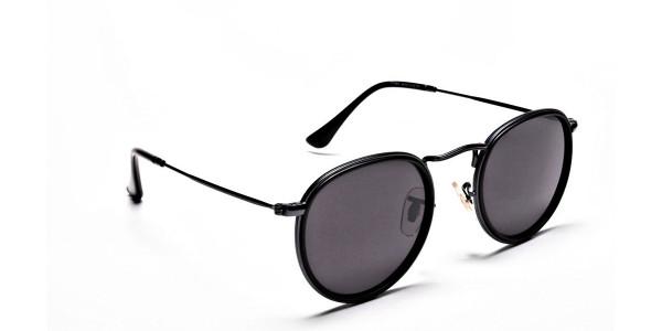Black Round Sunglasses Online - 1