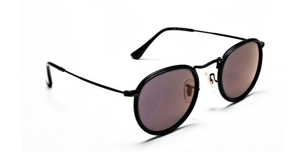 Purple Round Sunglasses for Men and Women - 1