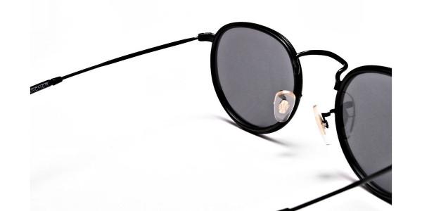 Purple Round Sunglasses for Men and Women - 4