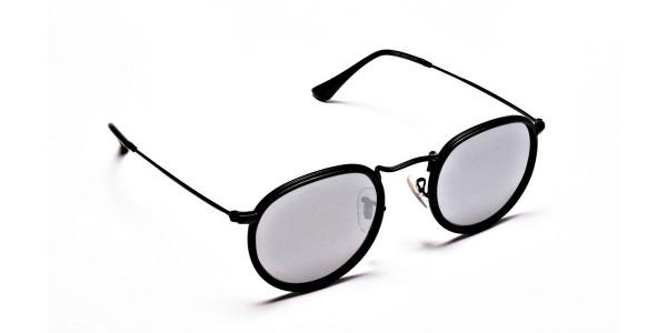 Mirrored Round Sunglasses - 1