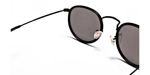 Mirrored Round Sunglasses - 4