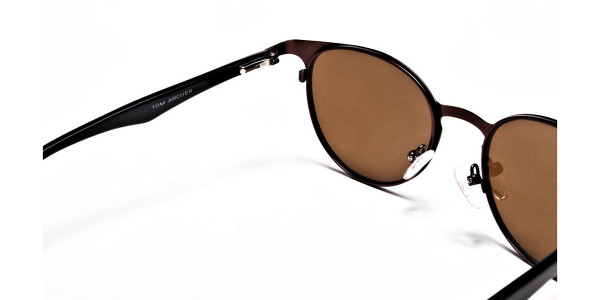Dainty brown sunglasses -4