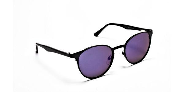 Sleek Black & Blue Sunglasses -1