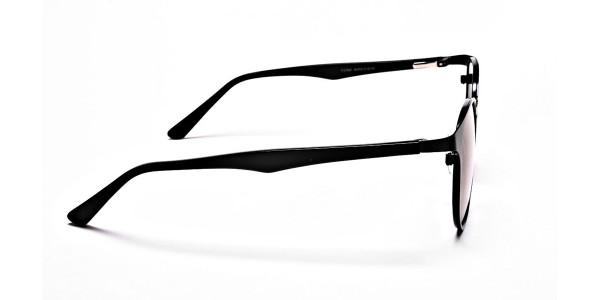 Sleek Black & Blue Sunglasses -3