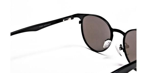 Sleek Black & Blue Sunglasses-4