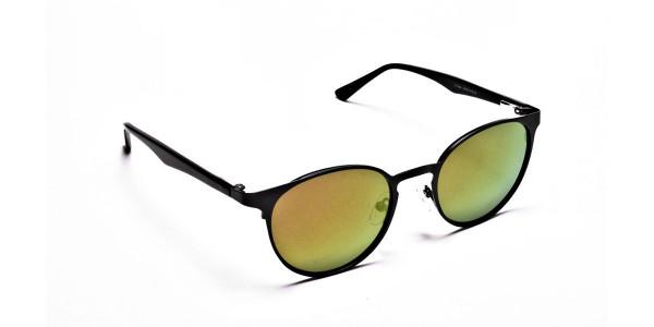 Brown & Green Lens Sunglasses - 1
