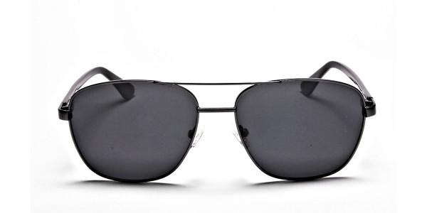 Gunmetal Framed Classic Sunglasses