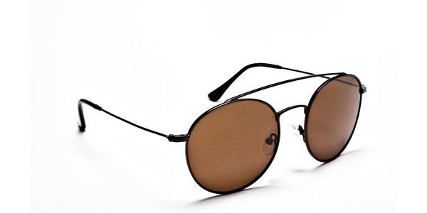 Brown Round Sunglasses - 1