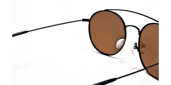 Brown Round Sunglasses - 4
