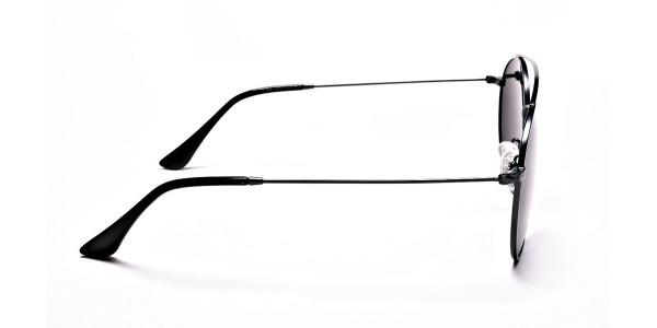 Grey Round Sunglasses - 3