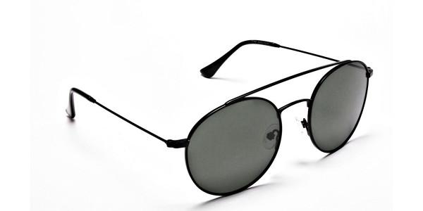Green Round Sunglasses - 1