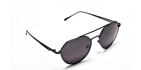 Classic Gunmetal Grey Tinted Sunglasses -1