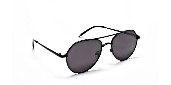 Black & Grey Tinted Sunglasses -1