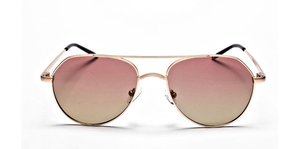 Gold & Red Sunglasses